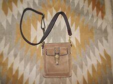 "Vintage Coach 7"" x 8.5"" Tan Suede Leather Cross Body Purse Bag"
