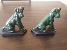 Vintage Bookends Dog Terrier,Airedale,Fox,Wels h
