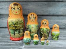 Author's matryoshka 9 dolls. Picture Rooks have arrived.