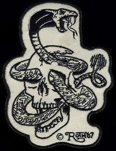 Skull Snake patch Roth '67 Kustom Kulture Hot Rod Motorcycle chopper