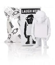 "LAUGH NOW DIY WHITE 6"" VINYL ART TOY FIGURE APOLOGIES TO BANKSY"