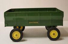 Vintage ERTL John Deere Green Pressed Steel Cart Trailer