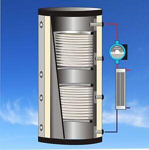 Kombispeicher Schichtenspeicher mit Frischwasserstation Pufferspeicher Speicher