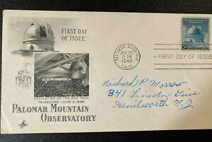 MR BRISKET'S DEDICATION OF MOUNT PALOMAR 200 inch TELESCOPE 1948 FDC  ARTCRAFT