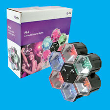 6 Way LED Party Lights Sound Activated Multi Coloured DJ Disco Event Lighting