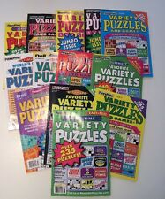 Lot of 6 Penny Press Variety Puzzle Books Dell ***FAST SHIPPING***