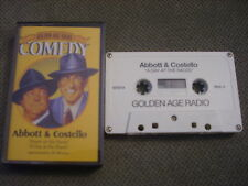 RARE OOP Abbott & Costello CASSETTE TAPE radio show 1977 Day At the Races + Down