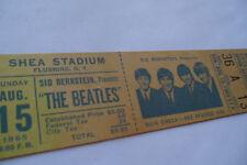 BEATLES___*** 1965 ***___Original__UNUSED__CONCERT TICKET__Shea Stadium NYC__EX-