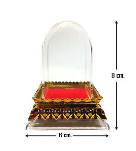 Clear Case Cover Altar Worship Acrylic Plastic Casing Phra Thai Buddhist Amulet