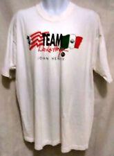 TEAM DE LA HOYA RARE Vintage 1998 Oscar De La Hoya Boxing Shirt XL White PRE-OWN