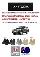 Sheepskin Car Seatcovers to fit Toyota Landcruiser 200 series Airbag safe 30mm