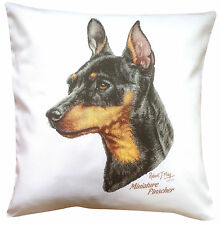 Miniature Pinscher  RM Breed of Dog Themed Cotton Cushion Cover - Perfect Gift