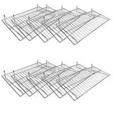 Chrome Flat Grid Shelf 10 Pieces 24 Inch X 12 Inch