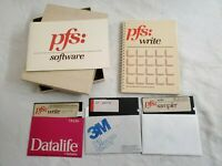 "pfs: write manual & pfs: software manual 1983 & 3 5.25"" Diskettes/Floppy Disc's"