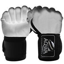 "AQWA Weight Lifting Wrist Wraps Bandage Hand Support Gym Cotton Straps Black 14"""