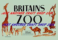 Britains Zoo Models 1955 Vintage Poster A4 size Advert Leaflet Shop Sign