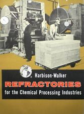 HARBISON-WALKER ASBESTOS Furnace Boiler Insulation Fiber Coating 1959