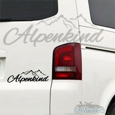 Alpenkind-Autocollant Sticker Voiture, Ski Montagne Snowboard Bavière Allgäu JDM Décalque