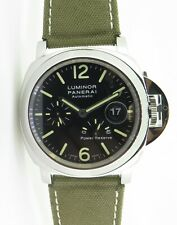 .Auth 2010 Panerai Luminor Steel Automatic Watch Pam 90 Box & Docs