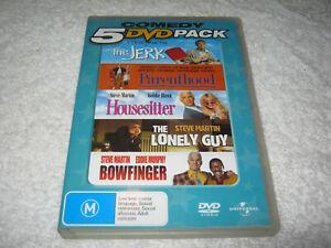The Jerk + Parenthood + Housesitter + The Lonely Guy + Bowfinger - VGC DVD R4
