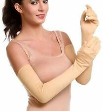 Women Men Beige Cotton Full Hand Gloves for Biking and Driving Pack of 1