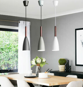 Kitchen Modern Pendant Lighting Bar Pendant Light Home Lamp Wood Ceiling Light