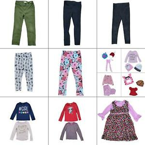 Lot 24 Girls Winter Clothing Bundle Size 5T Toddler Warm Tops Pants Tights Hats