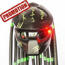 Matt Black Green Claw Predator Motorcycle Helmet Custom Open Face Casco Casque C