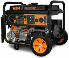 WEN DF1100T 120V Dual Fuel Propane Powered Electric Start Portable Generator with Wheel Kit
