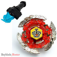 Fusion METAL Beyblade Masters BB116C HELL CROWN+BLUE STRING LAUNCHER+GRIP