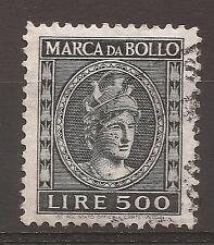 1953-4 REPUBBLICA MARCA L. 500 DEA ROMA TESTA GRANDE USATA CON TIMBRO E PERFETTA