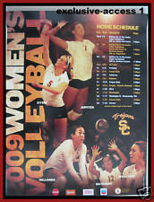 2009 USC TROJANS WOMEN'S VOLLEYBALL SCHEDULE POSTER