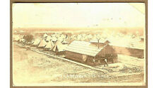 1916 YMCA Second Iowa IA Camp, Y.M.C.A. Real Photo pc, Tents, Mess Hall, Kitchen