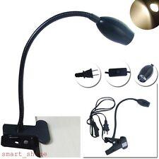 Adjustable Flexible LED Table Desk Bedside Reading Light Clip-on Clamp Lamp Bulb
