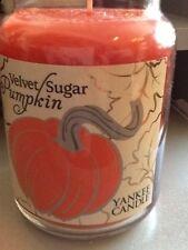 Yankee candle velvet sugar pumpkin new USA 2016