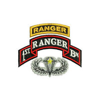 1st Ranger Bn Airborne Combat Jump Wings Embroidered Polo Shirt