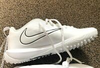 Nike Vapor Varsity Low Turf Shoes LAX Football Men's Size 5 5Y 923492-110 White