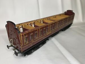 Midland Railway Full 3rd Clerestory Coach Scratch Built O Gauge Part Finished