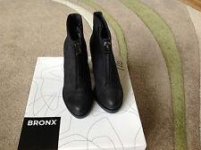 Bronx frontal de cremallera en el tobillo Bota Negro Talla 3 / Eur 36
