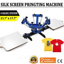 4 Color 2 Station Silk Screen Printing Machine Press Equipment T-Shirt New