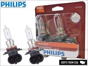 New Gen! PHILIPS X-treme Vision +100% 9005 HB3 9005XVB2 65W Upgrade Bulbs - PAIR