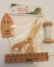 Banner Brand Hand-crafted Wood Christmas Decorations iron ruler scissors spool