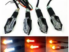 4X Amber White LED Turn Signal Indicator Braking Stop Running Tail Lights Suzuki