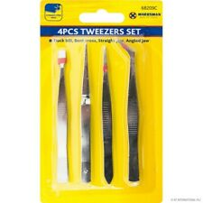 4 PC Precision Tweezers Set Hobby Craft Jewellery Electronic Card Making