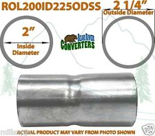 """2"""" ID to 2 1/4"""" 2.25"""" OD Stainless Steel Exhaust Pipe Component Adapter Reducer"""