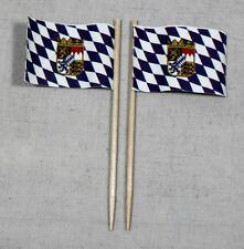 party-picker Bavaria Crest 50 Pieces Professional Quality dekopicker Flag Paper