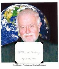 Dr S Fred Singer Autograph Space Atmospheric Physicist Professor MOUSE UV  #2