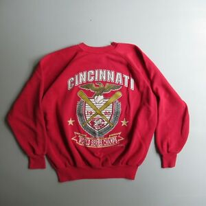 Vintage 1990 Cincinnati Reds World Series Sweatshirt Shirt vtg xl