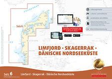Seekarten Satz 6 Revierführer Seekarte Dänische Nordseeküste Dänemark Karte