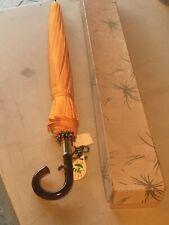 Original Vintage Pk Manual Open Umbrella Bright Orange In Box